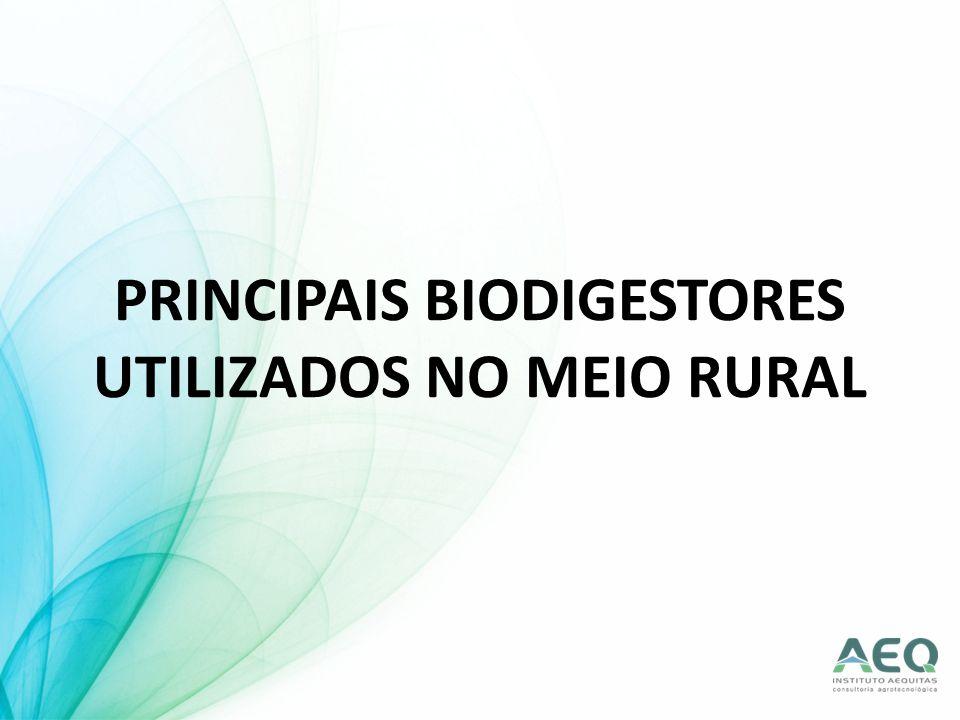 PRINCIPAIS BIODIGESTORES UTILIZADOS NO MEIO RURAL