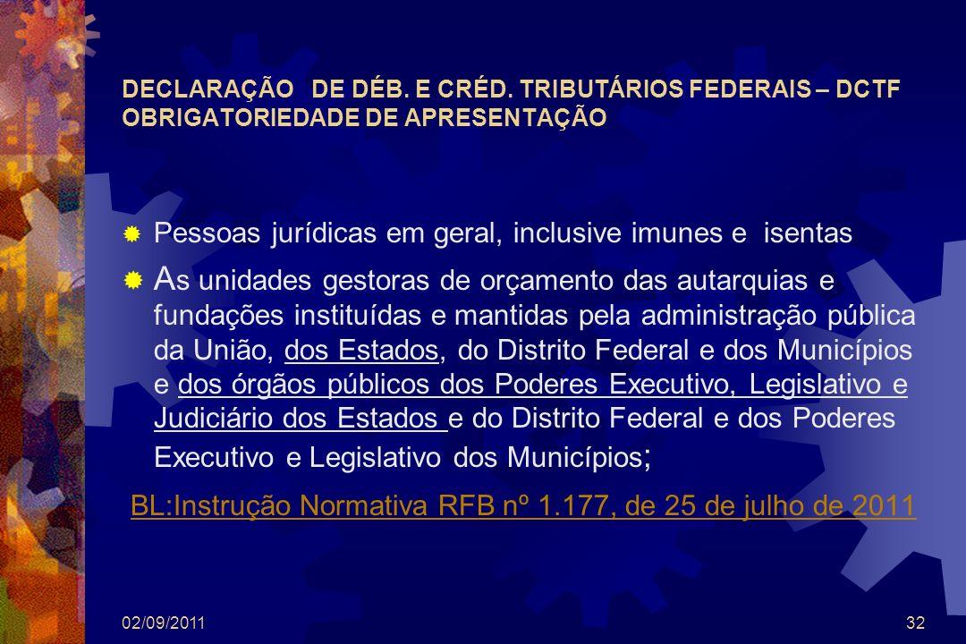 BL:Instrução Normativa RFB nº 1.177, de 25 de julho de 2011