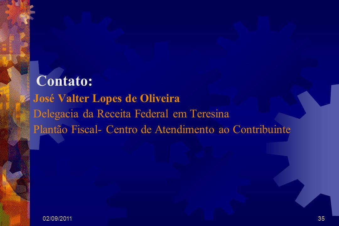 José Valter Lopes de Oliveira Delegacia da Receita Federal em Teresina