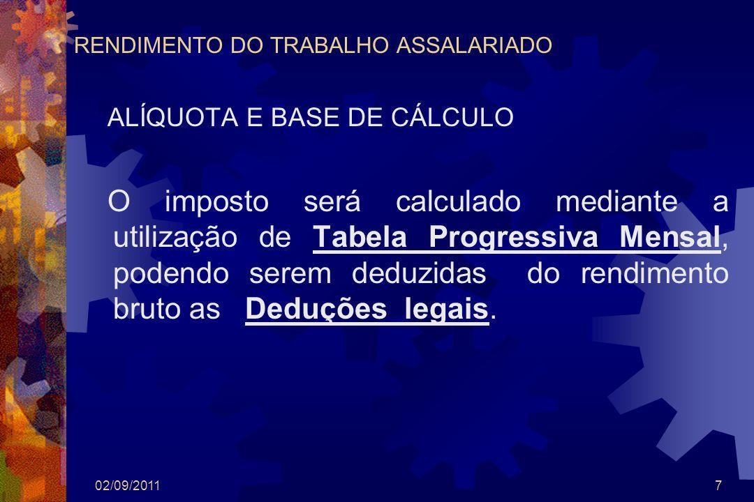 RENDIMENTO DO TRABALHO ASSALARIADO