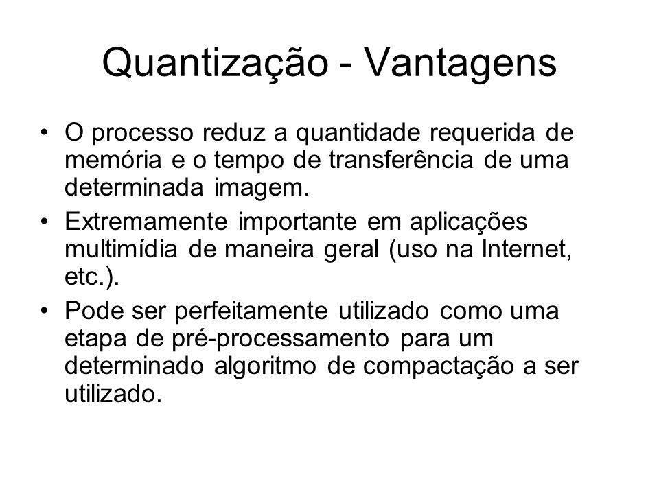 Quantização - Vantagens