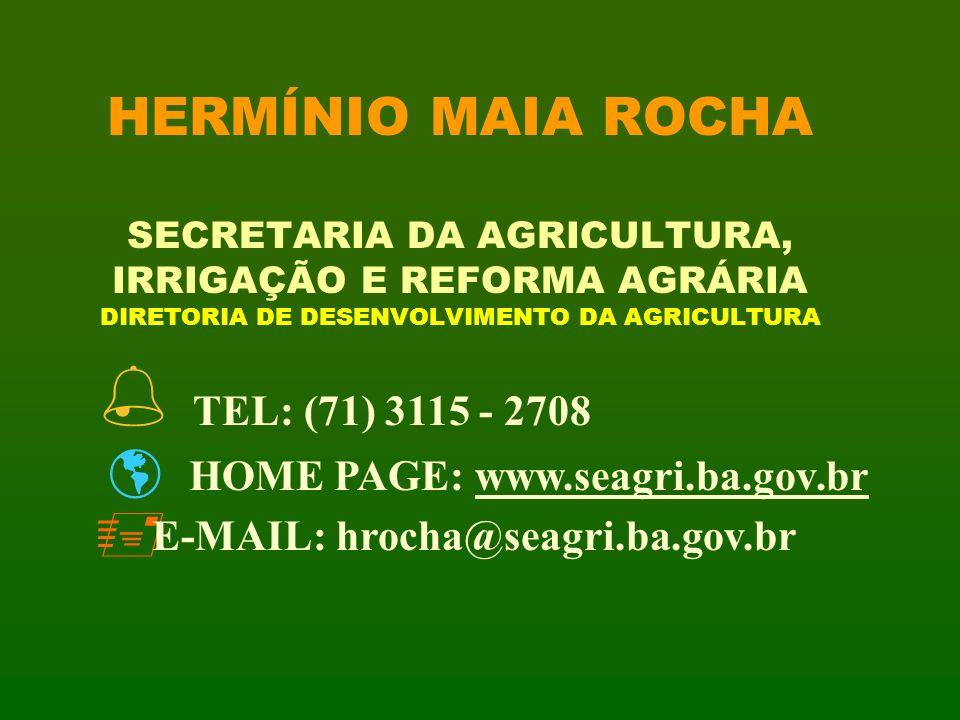 HERMÍNIO MAIA ROCHA SECRETARIA DA AGRICULTURA, IRRIGAÇÃO E REFORMA AGRÁRIA DIRETORIA DE DESENVOLVIMENTO DA AGRICULTURA
