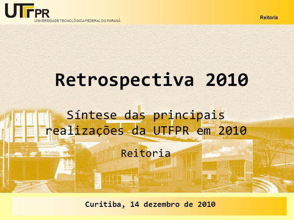 Síntese das principais realizações da UTFPR em 2010