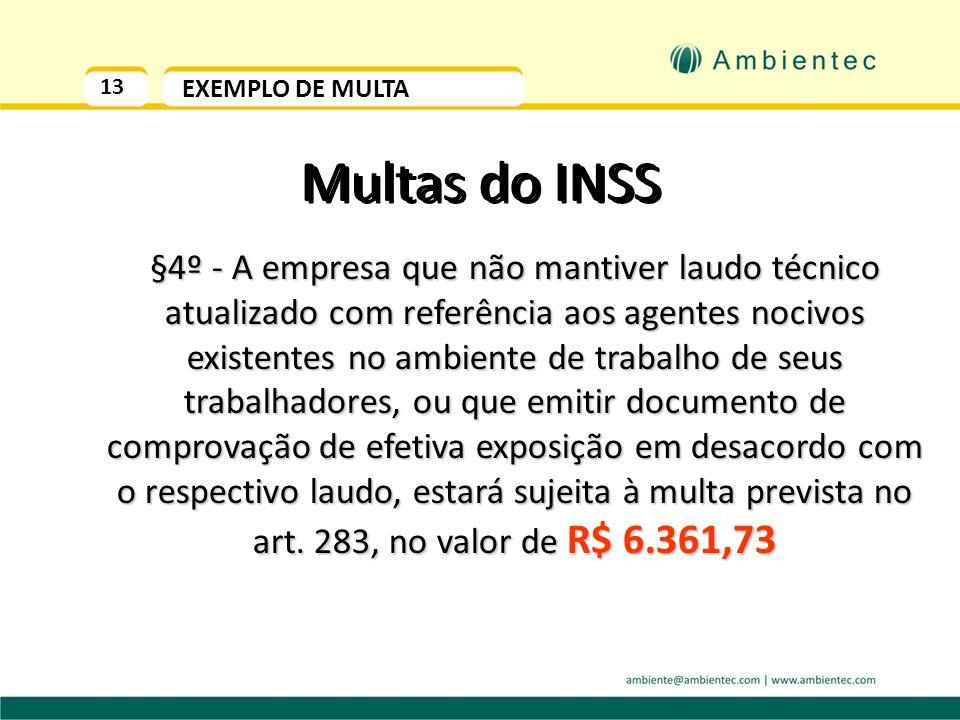 13EXEMPLO DE MULTA. Multas do INSS.
