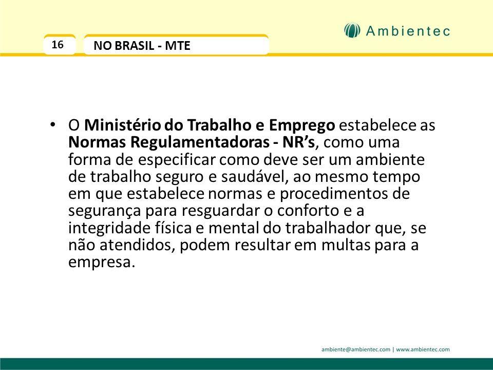 16 NO BRASIL - MTE.