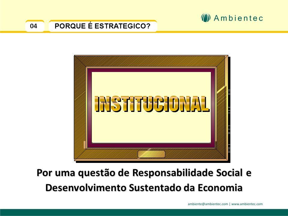 Por uma questão de Responsabilidade Social e