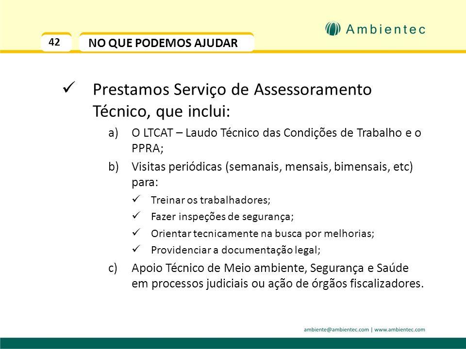 Prestamos Serviço de Assessoramento Técnico, que inclui: