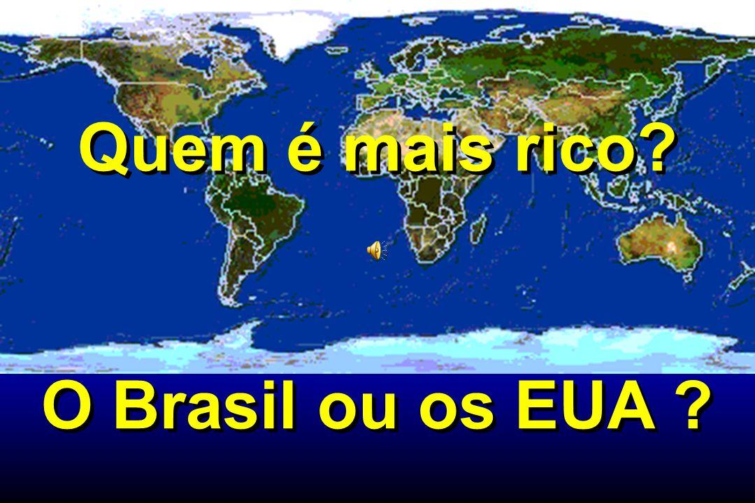 Quem é mais rico O Brasil ou os EUA