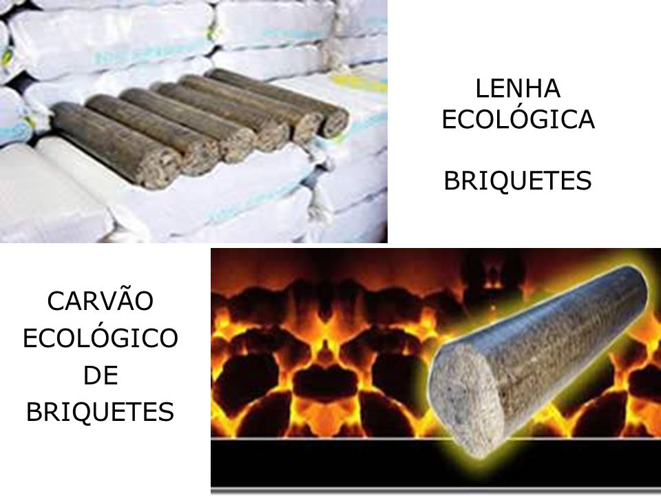 LENHA ECOLÓGICA BRIQUETES