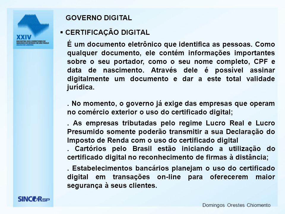 GOVERNO DIGITAL CERTIFICAÇÃO DIGITAL