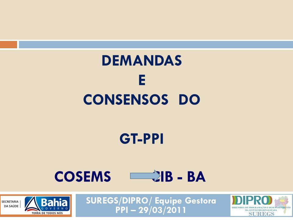 SUREGS/DIPRO/ Equipe Gestora PPI – 29/03/2011