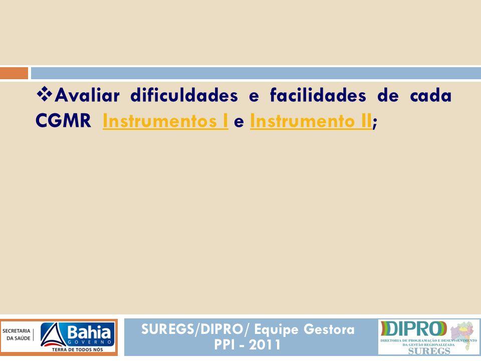 SUREGS/DIPRO/ Equipe Gestora PPI - 2011