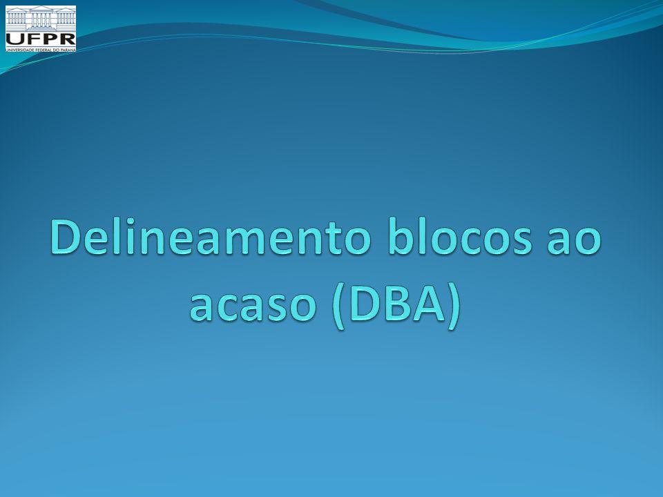 Delineamento blocos ao acaso (DBA)