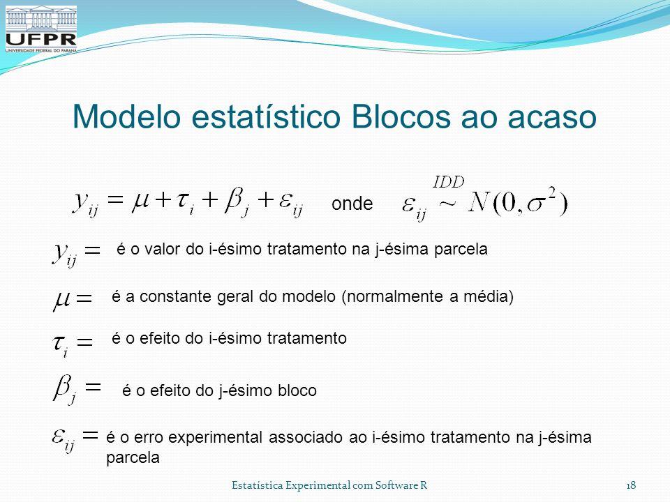 Modelo estatístico Blocos ao acaso