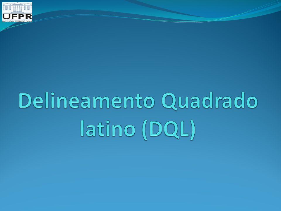 Delineamento Quadrado latino (DQL)