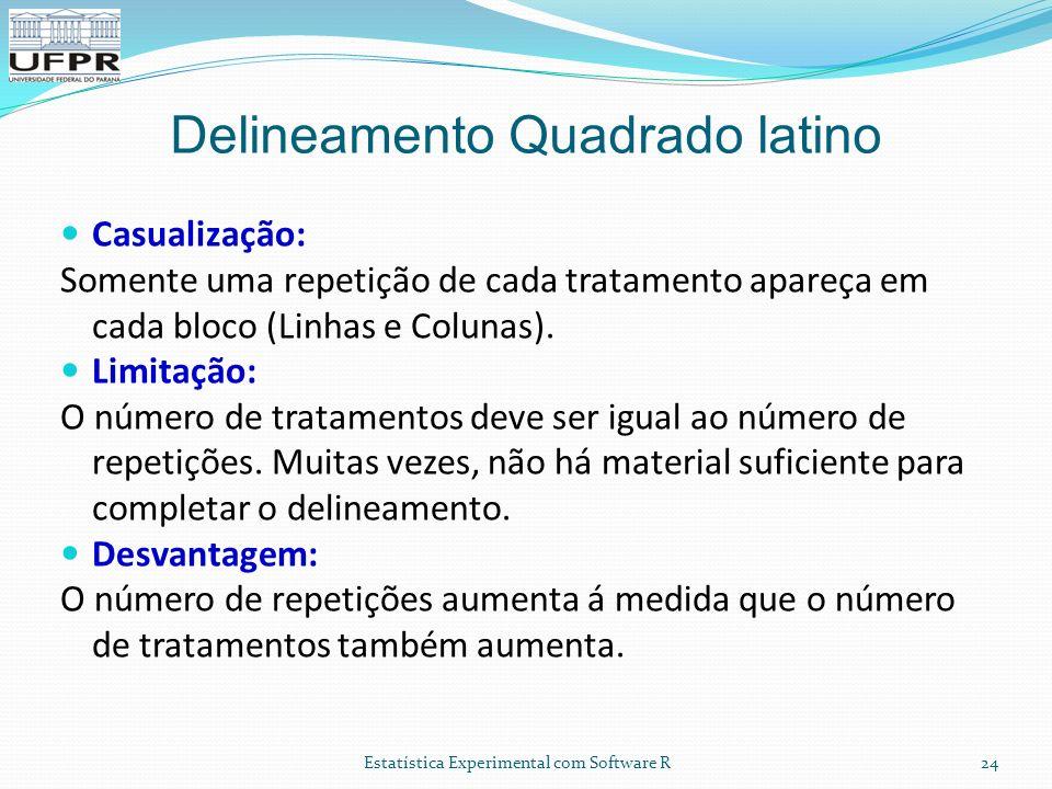 Delineamento Quadrado latino