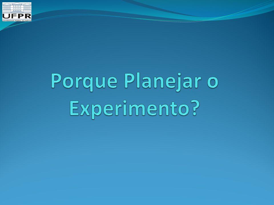 Porque Planejar o Experimento