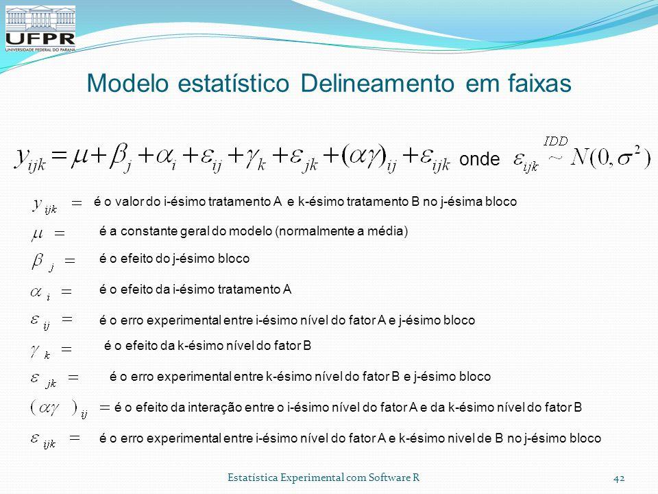 Modelo estatístico Delineamento em faixas