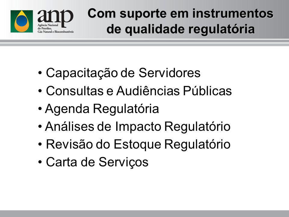 Com suporte em instrumentos de qualidade regulatória