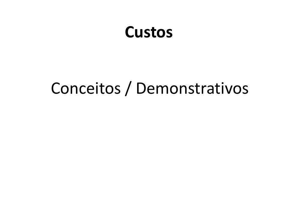 Conceitos / Demonstrativos