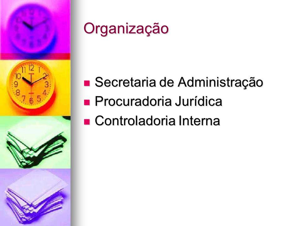 Organização Secretaria de Administração Procuradoria Jurídica