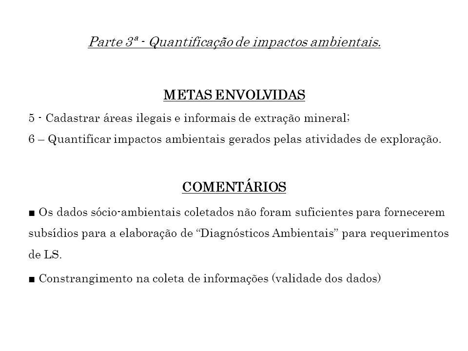 Parte 3ª - Quantificação de impactos ambientais.