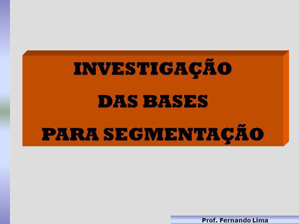INVESTIGAÇÃO DAS BASES PARA SEGMENTAÇÃO