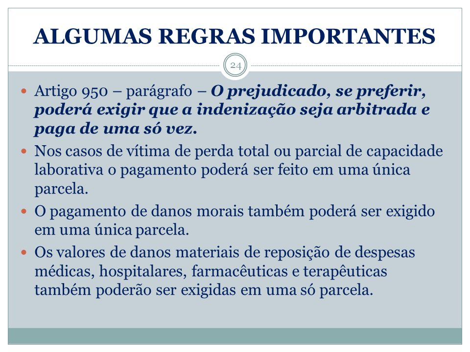 ALGUMAS REGRAS IMPORTANTES