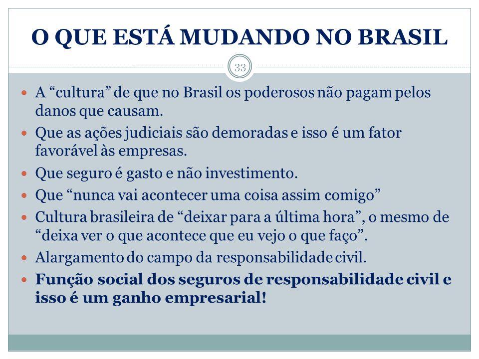 O QUE ESTÁ MUDANDO NO BRASIL