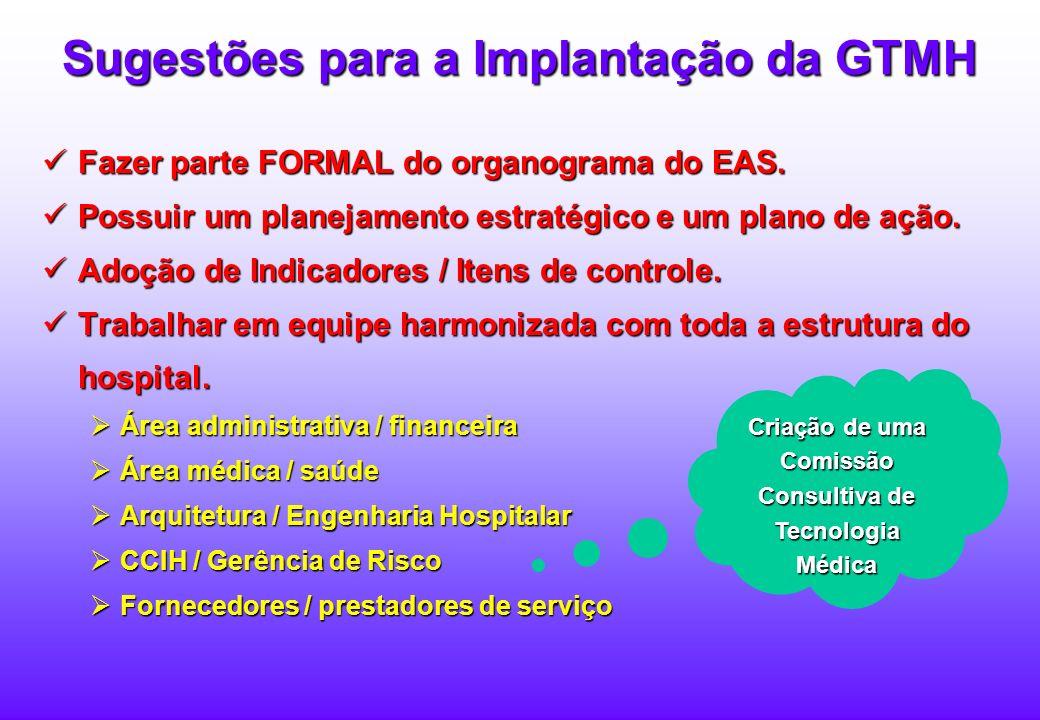 Sugestões para a Implantação da GTMH
