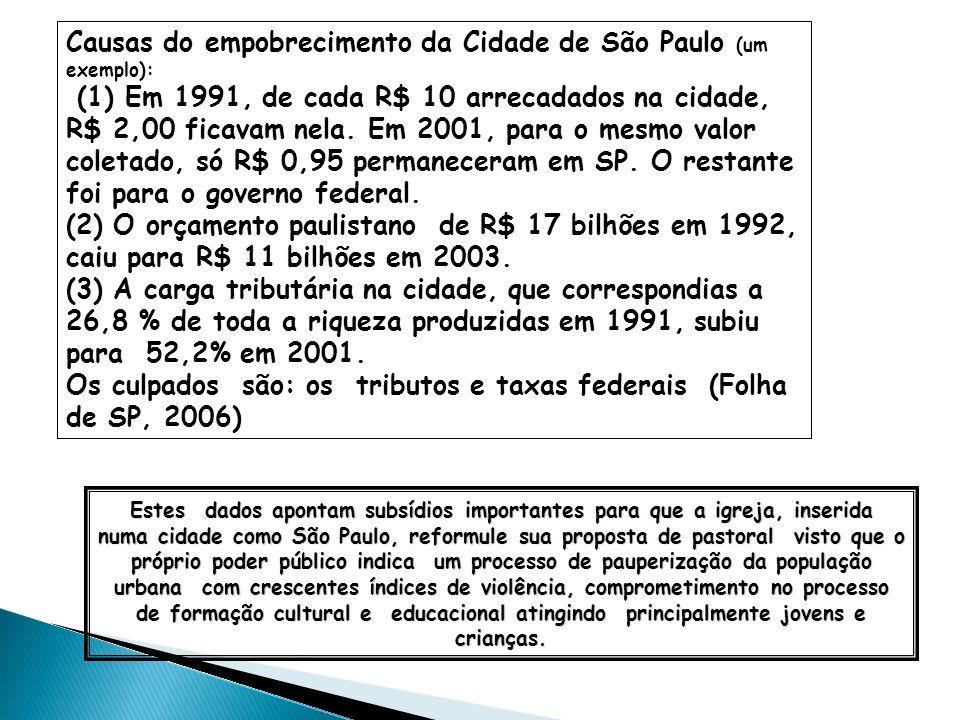 Causas do empobrecimento da Cidade de São Paulo (um exemplo):