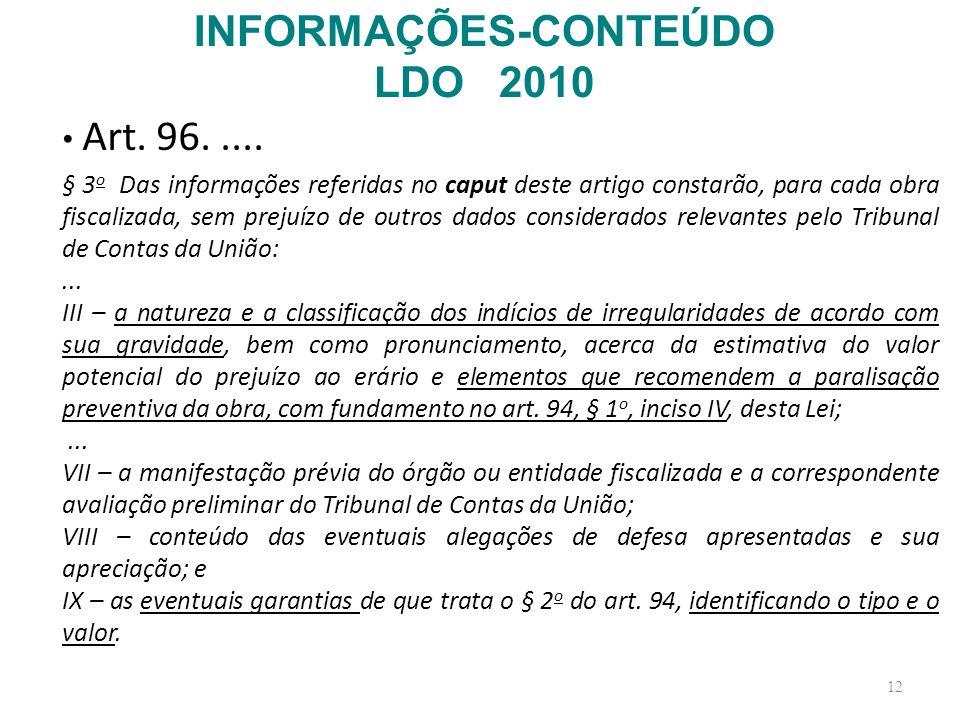 INFORMAÇÕES-CONTEÚDO LDO 2010