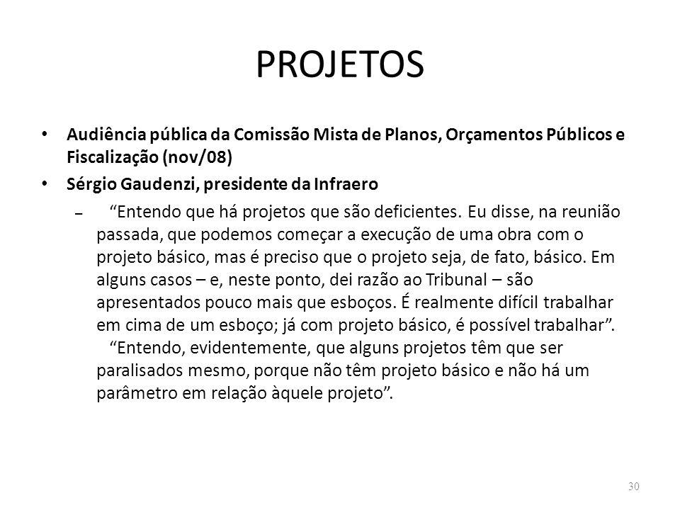 PROJETOS Audiência pública da Comissão Mista de Planos, Orçamentos Públicos e Fiscalização (nov/08)
