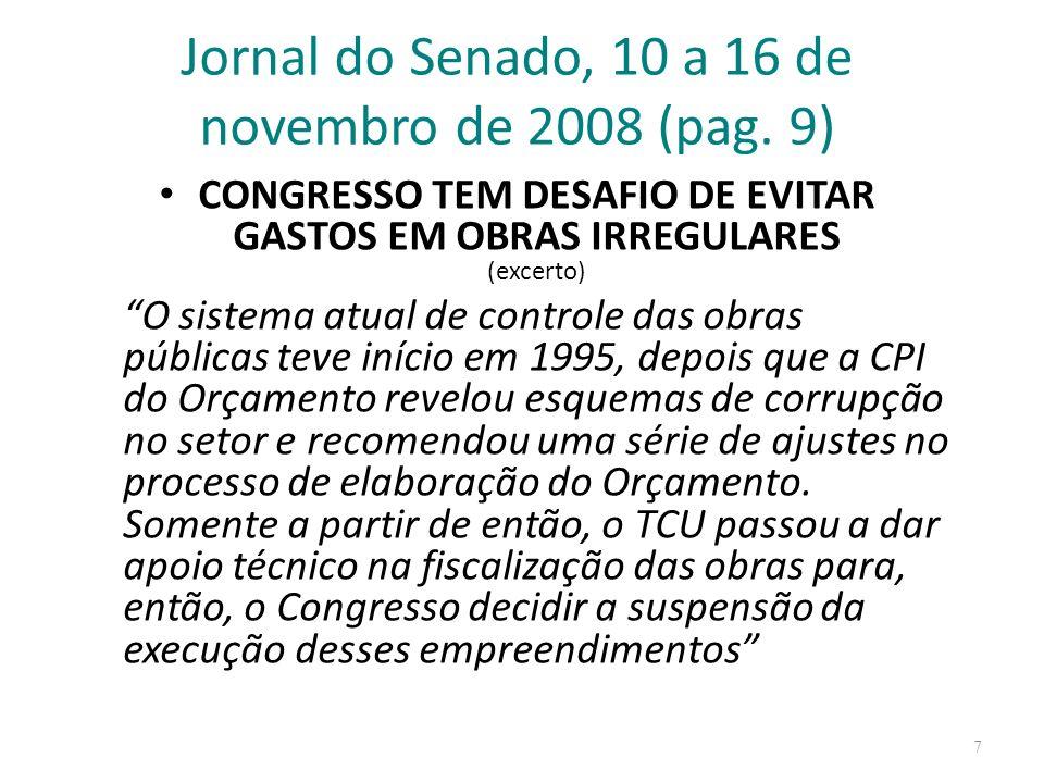 Jornal do Senado, 10 a 16 de novembro de 2008 (pag. 9)