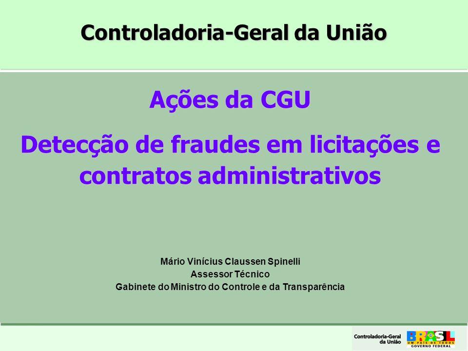 Detecção de fraudes em licitações e contratos administrativos