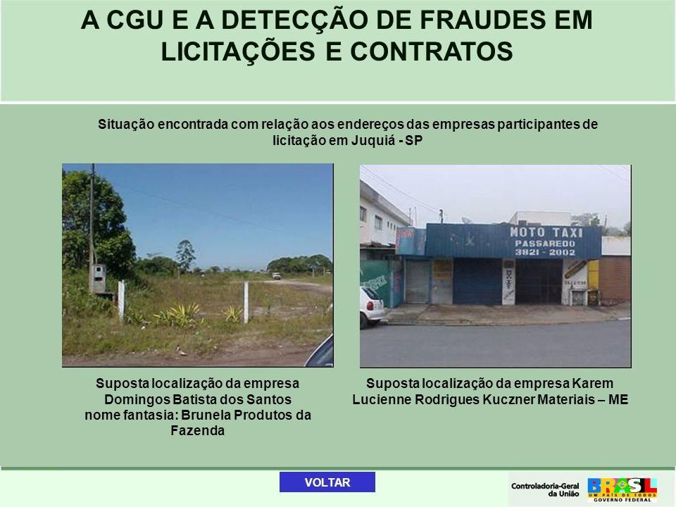 Suposta localização da empresa Domingos Batista dos Santos