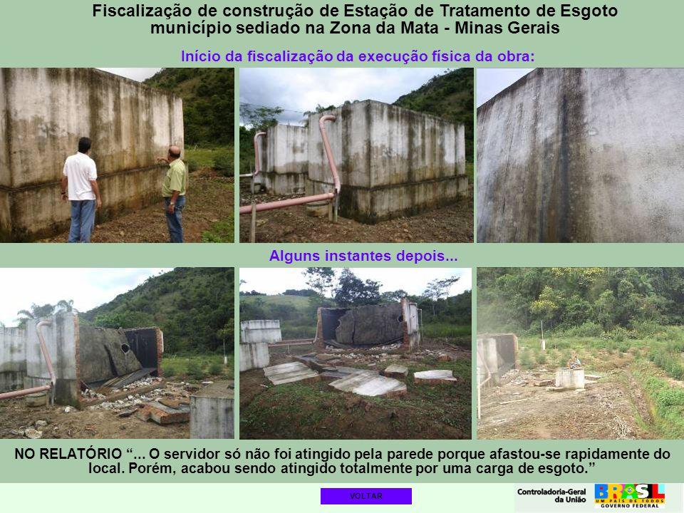 Fiscalização de construção de Estação de Tratamento de Esgoto município sediado na Zona da Mata - Minas Gerais