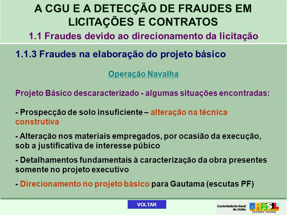 1.1 Fraudes devido ao direcionamento da licitação