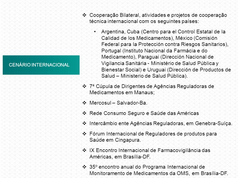 Mercosul – Salvador-Ba. Rede Consumo Seguro e Saúde das Américas