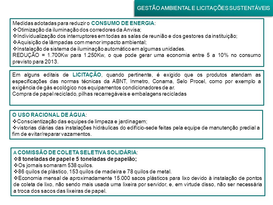 GESTÃO AMBIENTAL E LICITAÇÕES SUSTENTÁVEIS