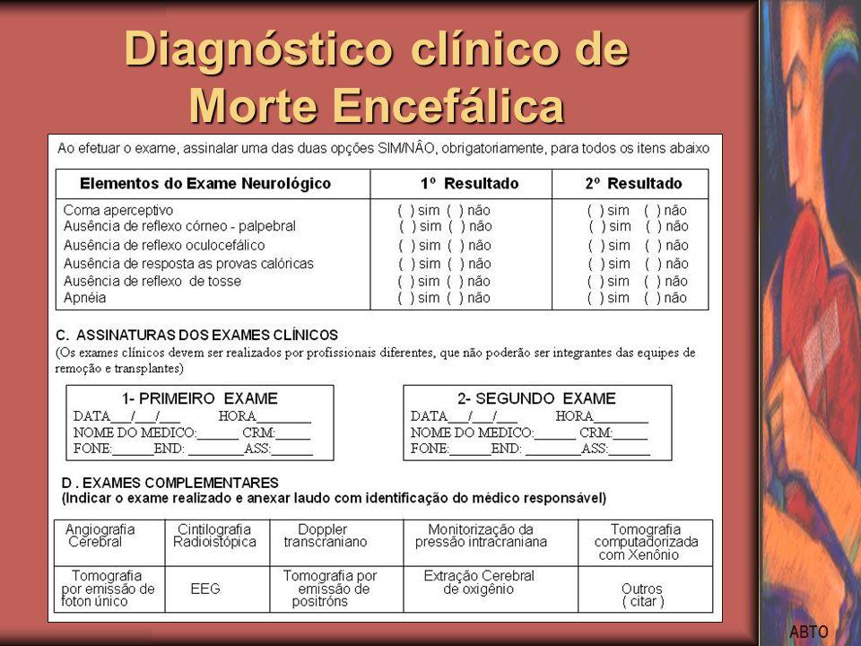 Diagnóstico clínico de Morte Encefálica
