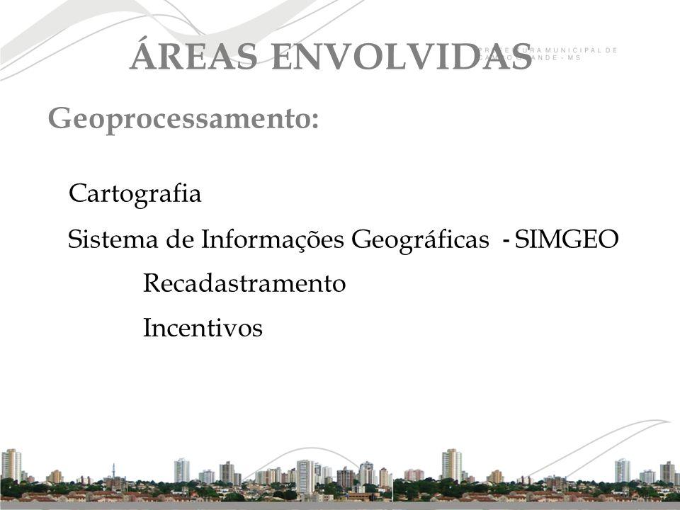 ÁREAS ENVOLVIDAS Geoprocessamento: Cartografia
