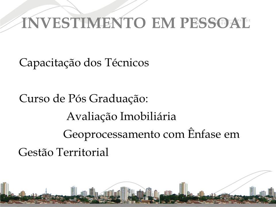 INVESTIMENTO EM PESSOAL