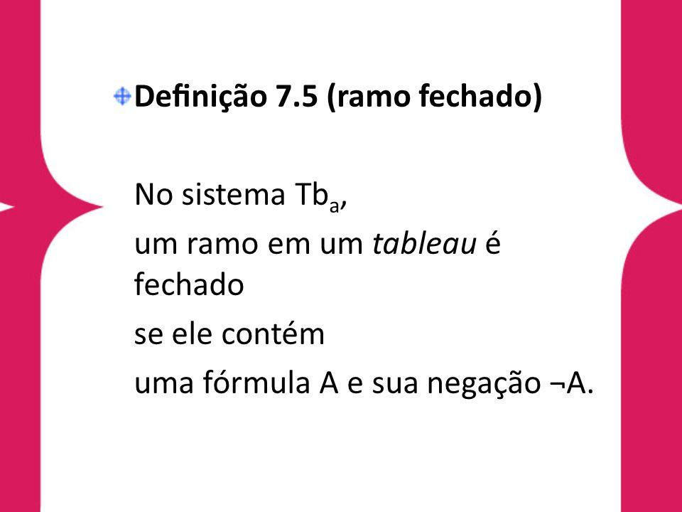 Definição 7.5 (ramo fechado)