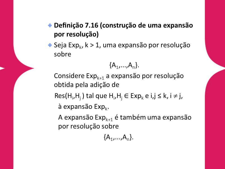 Res(Hi,Hj ) tal que Hi,Hj ∈ Expk e i,j ≤ k, i  j,