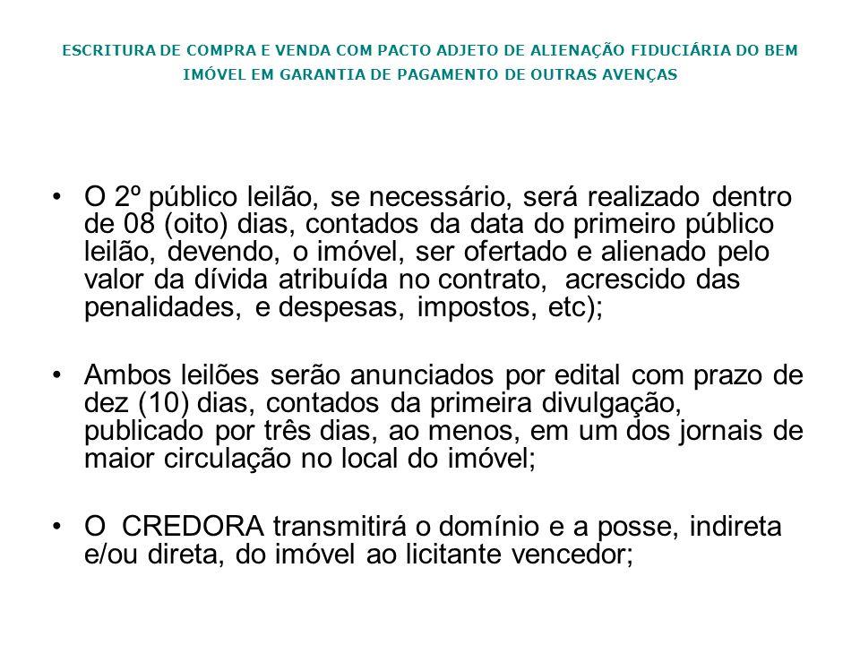 ESCRITURA DE COMPRA E VENDA COM PACTO ADJETO DE ALIENAÇÃO FIDUCIÁRIA DO BEM IMÓVEL EM GARANTIA DE PAGAMENTO DE OUTRAS AVENÇAS