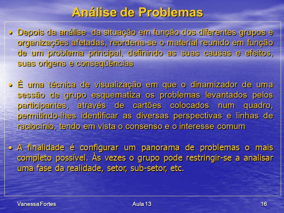 Análise de Problemas