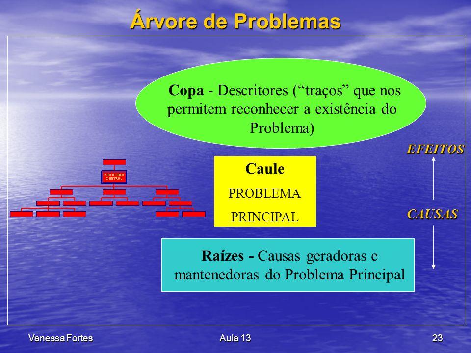 Raízes - Causas geradoras e mantenedoras do Problema Principal