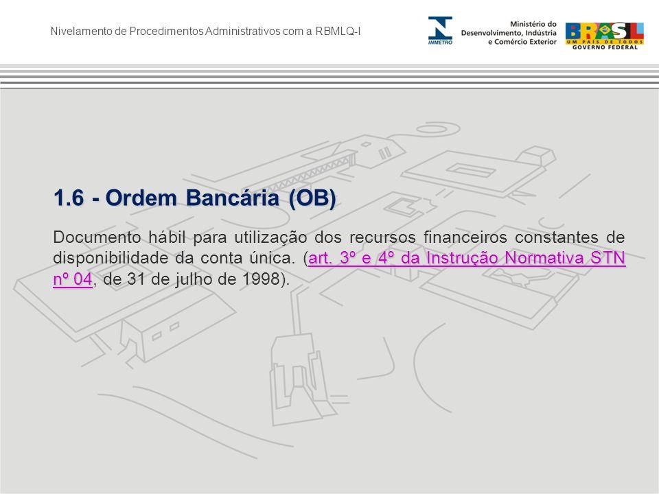 1.6 - Ordem Bancária (OB)