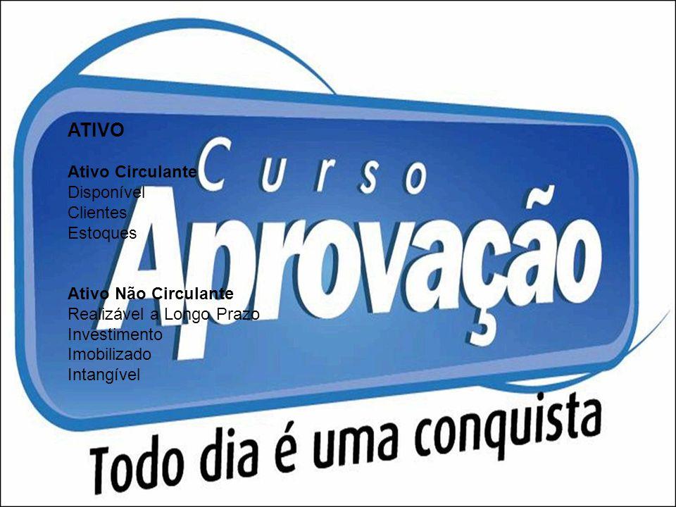 ATIVO Ativo Circulante Disponível Clientes Estoques
